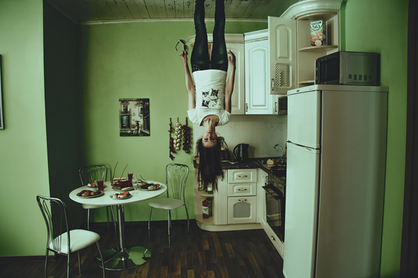 negative space Woman Ceiling Kitchen Free Photo