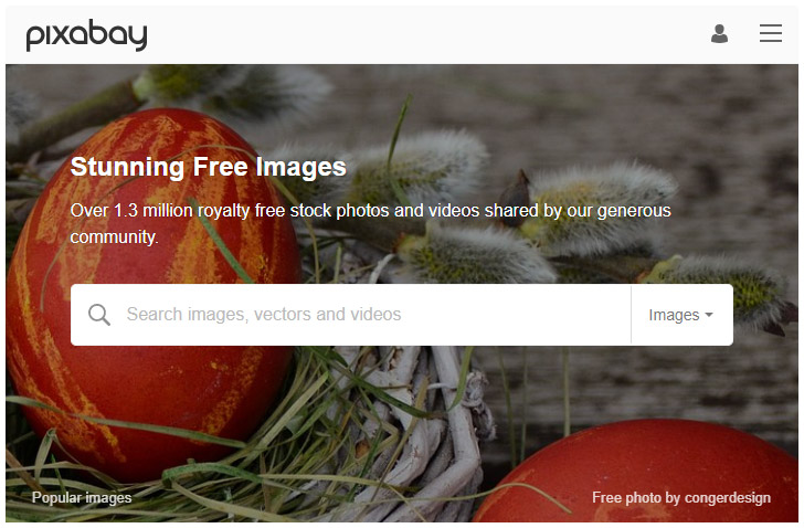 Pixbay - Discover the best source for free images and videos.