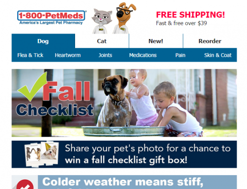 1-800-PetMeds Fall Email Campaign